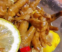 柠檬酸辣无骨鸡爪的做法