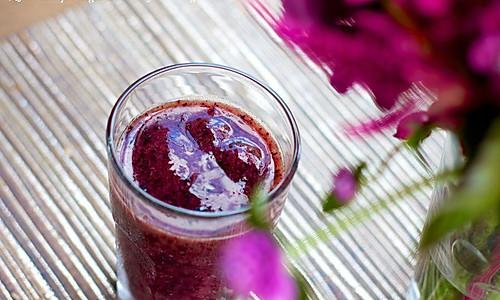 蓝莓冰沙的做法