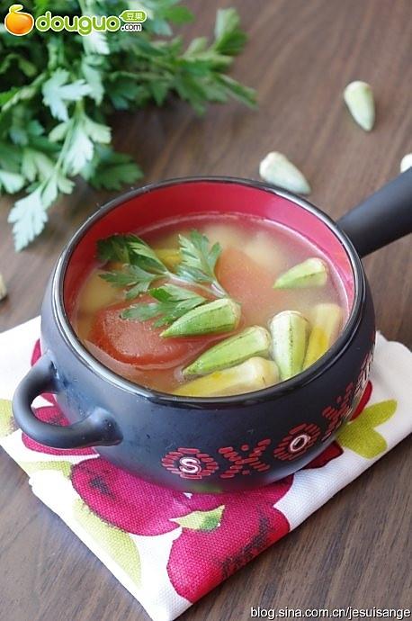 波黑祖母的秋葵汤的做法