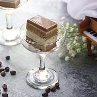 6寸方形酸奶咖啡慕斯#美的FUN烤箱·焙有FUN儿#