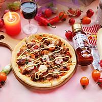 香辣鸡肉pizza-丘比沙拉酱
