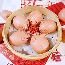 #年味十足的中式面点#豆沙猪猪包