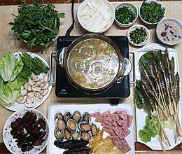 #一道菜表白豆果美食#金汤花胶鸡打边炉(满满年味)的做法