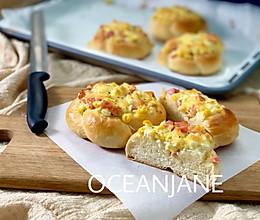 【早餐】会哭的玉米香肠沙拉面包的做法