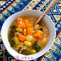 营养早餐粥-宝宝蔬菜米粥的做法图解12
