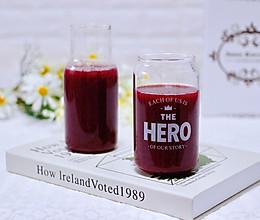 #夏天夜宵High起来!#护眼抗衰老的蓝莓葡萄甜汁的做法