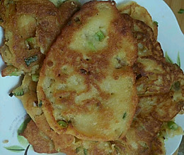香葱粗粮饼的做法