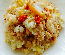 蟹肉炒饭的做法