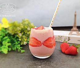 【美食魔法】白金级草莓奇异果思慕雪 美美又好喝#相约MOF#的做法