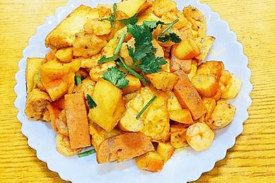 三鲜焖烧豆腐