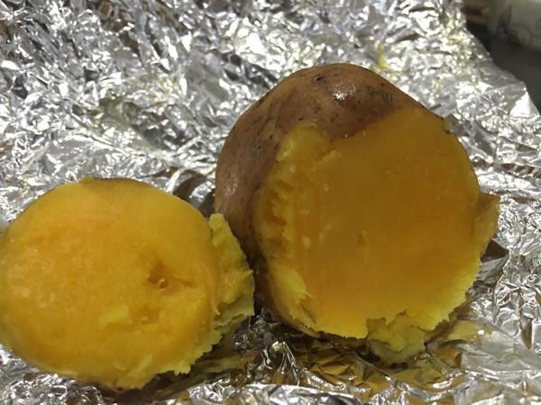 锡纸烤红薯的做法