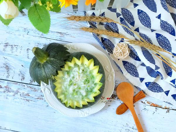 宝宝辅食——南瓜盅炖磷虾粥!的做法