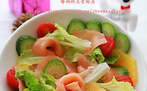 烟熏三文鱼沙拉的做法