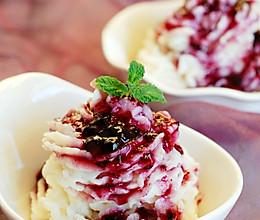 """【蓝莓山药泥】适合冬天享用的""""冰淇淋""""的做法"""
