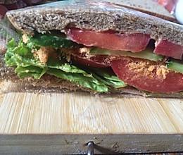肉松三明治寝室的做法