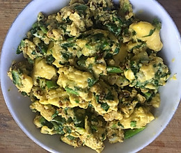 香葱莴苣叶炒鸡蛋的做法