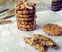 高纤低脂的黑芝麻燕麦饼干的做法