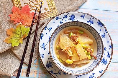 冬瓜肉丝烩毛豆