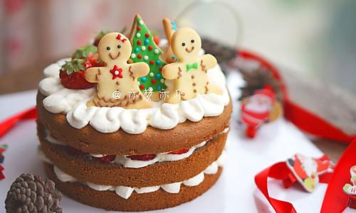 圣诞欢乐巧克力裸蛋糕的做法