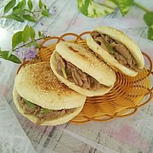 烧饼夹烤肉#利仁电饼铛,烙烤不翻面#