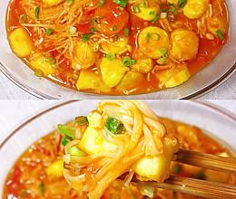 茄汁金针菇日本豆腐的做法