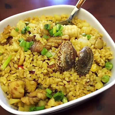 海鲜咖喱炒饭