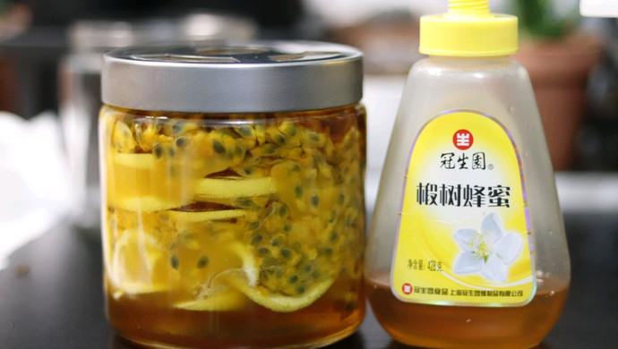 蜂蜜柠檬百香果茶