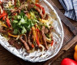 墨西哥铁盘烤牛肉的做法