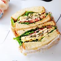 畅快早餐,元气满满一整天  ~黑椒鸡胸肉厚蛋三明治的做法图解8