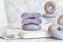 蝶豆花贝果#美味烤箱菜,就等你来做!#的做法