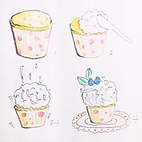 杯子蛋糕-蓝颜雪吻的做法图解8