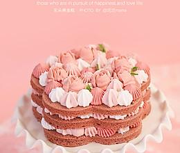 新手也能轻易成功    花朵裸蛋糕的做法