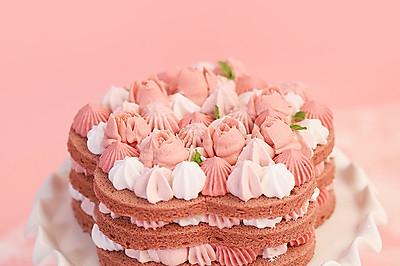 新手也能轻易成功    花朵裸蛋糕