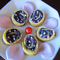 紫薯苹果蛋卷
