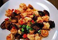 香菇爆虾仁的做法