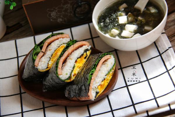 折叠紫菜包饭,10分钟就能搞定的简单早餐的做法