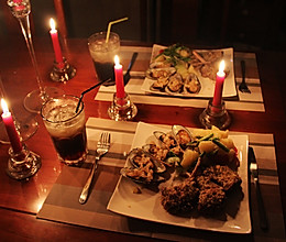 浪漫七夕之烛光晚餐——法式煎羊排佐蒜香青口的做法