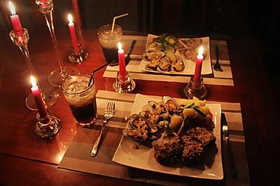 浪漫七夕之烛光晚餐——法式煎羊排佐蒜香青口
