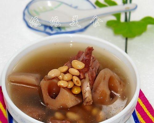莲藕黄豆骨头汤的做法