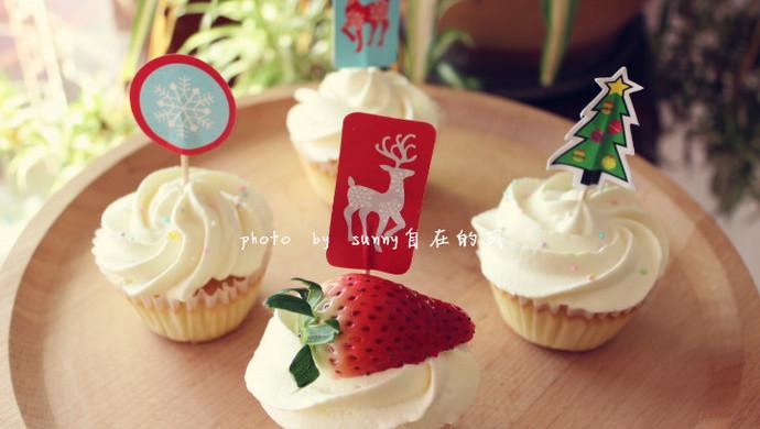 海绵纸杯蛋糕~圣诞节可爱小点心