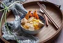 大虾白菜炖豆腐的做法