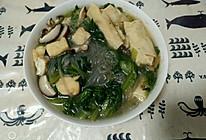 毛菜粉丝百叶包汤的做法