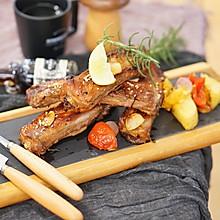 烤箱菜|法式迷迭香烤排骨配杂蔬#硬核菜谱制作人#