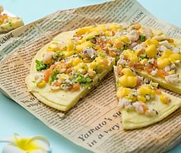 #精品菜谱挑战赛#贝柱虾仁海鲜披萨的做法