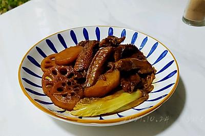 红烧翅尖焖素菜