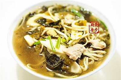【曼步厨房】杭州味道 - 片儿川汤面