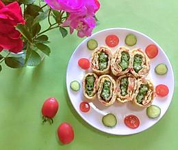 #我们约饭吧#有颜又好吃的秋葵厚蛋烧的做法