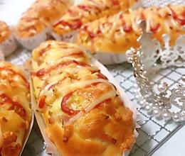 超级松软芝士培根面包,不用厨师机也能轻松出膜的揉面办法的做法
