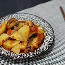 西红柿烧茄子土豆-少油版