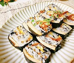 #少盐饮食 轻松生活#少盐 午餐肉薯片寿司卷